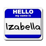 hello my name is izabella  Mousepad