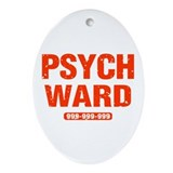 Psych Ward Oval Ornament