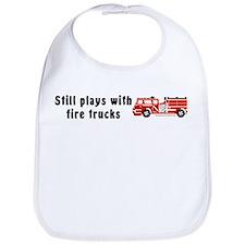 Still plays with fire trucks Bib