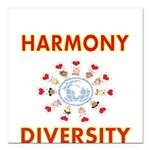 Harmony and Diversity Square Car Magnet 3