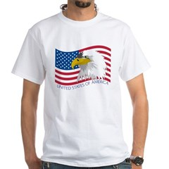 Bald Eagle White T-Shirt