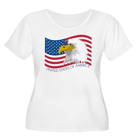 Bald Eagle Women's Plus Size Scoop Neck T-Shirt