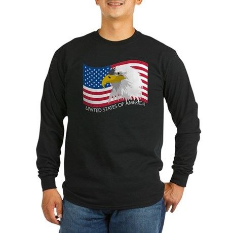 Bald Eagle Long Sleeve Dark T-Shirt