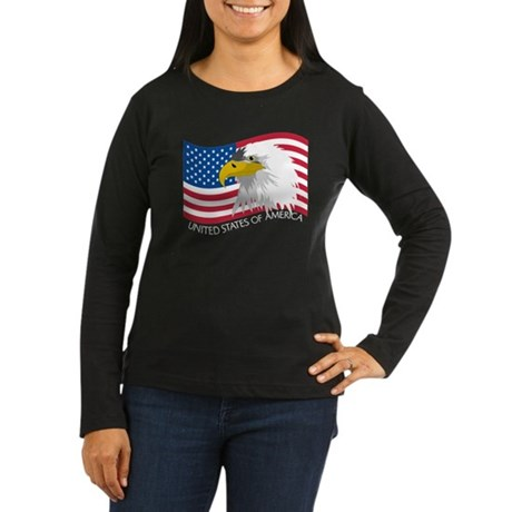 Bald Eagle Women's Long Sleeve Dark T-Shirt