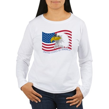 Bald Eagle Women's Long Sleeve T-Shirt