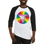 RAINBOW PEACE DOVE Baseball Jersey