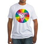 RAINBOW PEACE DOVE Fitted T-Shirt