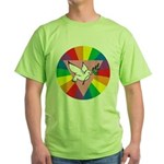 RAINBOW PEACE DOVE Green T-Shirt
