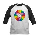 RAINBOW PEACE DOVE Kids Baseball Jersey