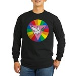 RAINBOW PEACE DOVE Long Sleeve Dark T-Shirt