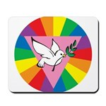 RAINBOW PEACE DOVE Mousepad