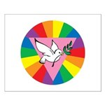 RAINBOW PEACE DOVE Small Poster