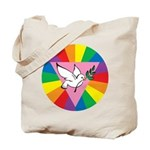 RAINBOW PEACE DOVE Tote Bag