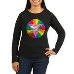 RAINBOW PEACE DOVE Women's Long Sleeve Dark T-Shir