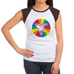 RAINBOW PEACE DOVE Women's Cap Sleeve T-Shirt