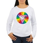 RAINBOW PEACE DOVE Women's Long Sleeve T-Shirt