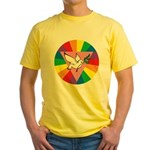 RAINBOW PEACE DOVE Yellow T-Shirt