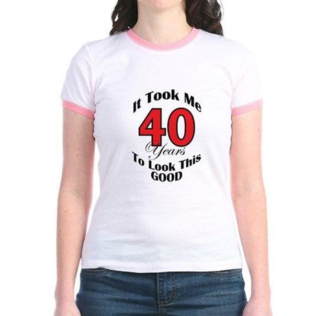 40 years Old Jr. Ringer T-Shirt