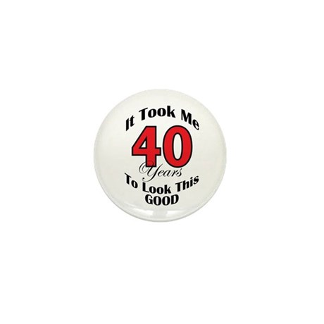 40 years Old Mini Button (100 pack)