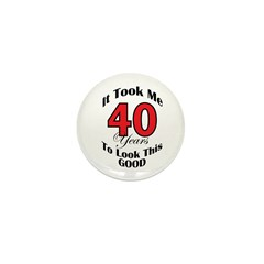 40 years Old Mini Button (10 pack)
