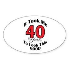 40 years Old Oval Decal