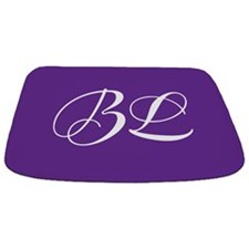 Purple Monogram Bathmat