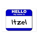hello my name is itzel  Postcards (Package of 8)
