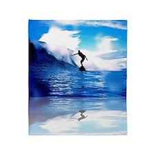 Surfing Art Throw Blanket