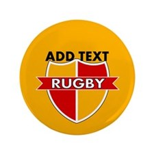"""Rugby Crest Red Gold gldpz 3.5"""" Button"""