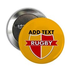 "Rugby Crest Red Gold gldpz 2.25"" Button"