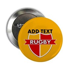 "Rugby Crest Red Gold gldpz 2.25"" Button (10 pack)"