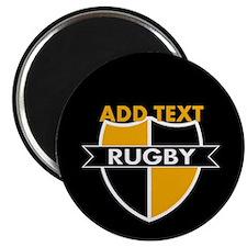 "Rugby Crest Black Gold blkpz 2.25"" Magnet (100 pac"