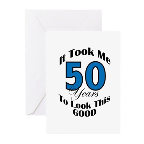 50 Years Old Greeting Cards (Pk of 10)