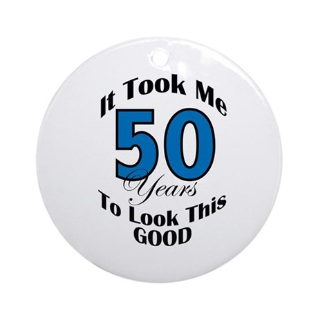 50 Years Old Ornament (Round)