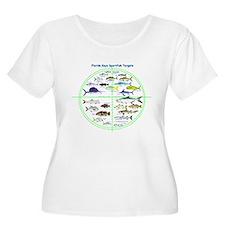 Florida Keys Fish Targets Plus Size T-Shirt