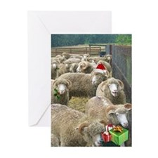 Horned Sheep Christmas Greeting Cards-10
