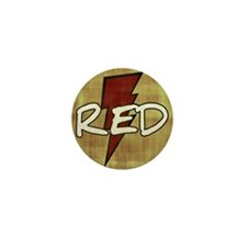 Red Lightning Mini Button