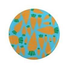 "Carrots Vegan Veggie Lover Blue 3.5"" Button"