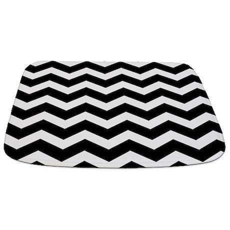 Black And White Chevron Bathmat