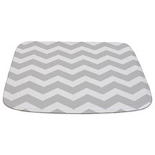 Light Grey Chevron Bathmat