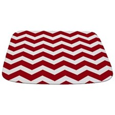 Red And White Chevron Bathmat