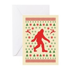 Sasquatch Sweater Tees Greeting Cards