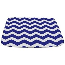 Navy Blue Chevron Bathmat