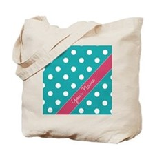 Personalized Name Polka Dots Tote Bag