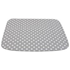 Gray Polka Dot Bathmat
