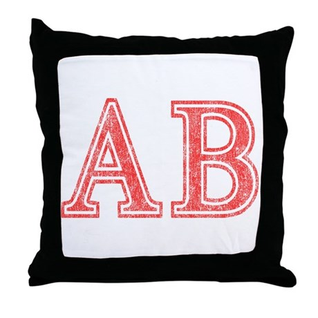 Alpha Beta Throw Pillow