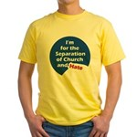 SEPARATION CHURCH HATE Yellow T-Shirt