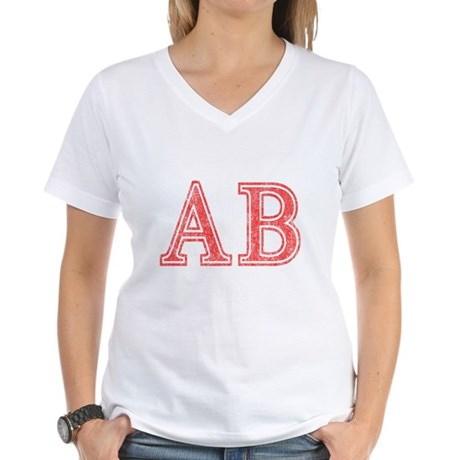 Alpha Beta Womens V-Neck T-Shirt