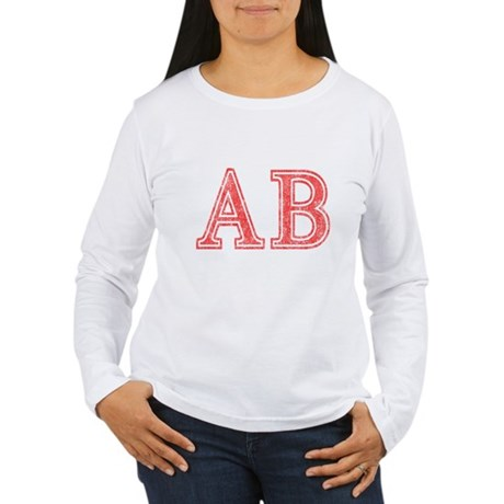 Alpha Beta Womens Long Sleeve T-Shirt
