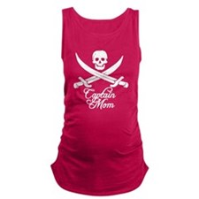 Captain Mom Maternity Tank Top